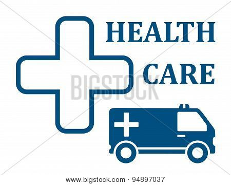 health care ambulance car icon