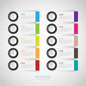 Infographics Options Banner. Vector Illustration
