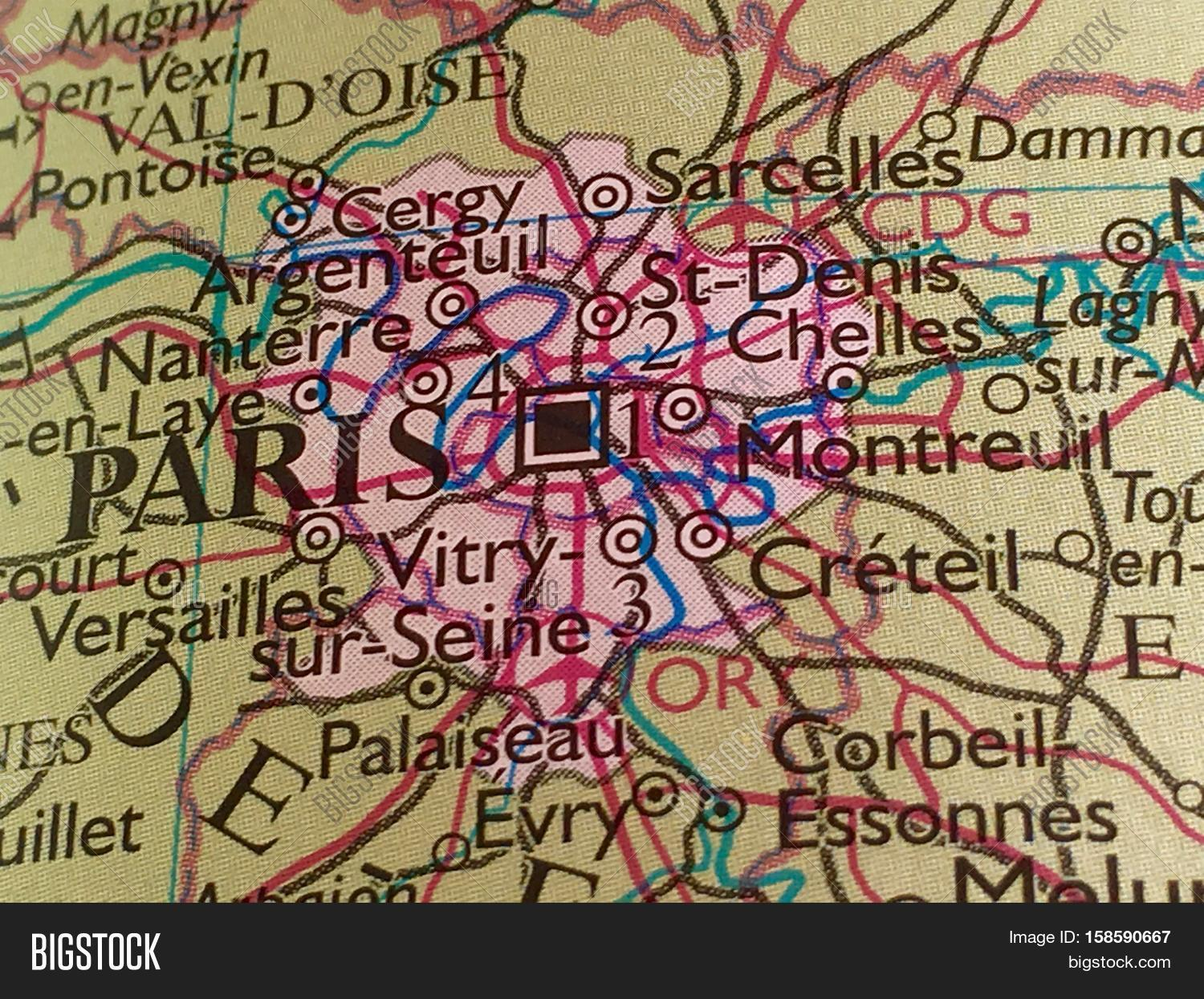 Areas Of France Map.Map Paris France Image Photo Free Trial Bigstock