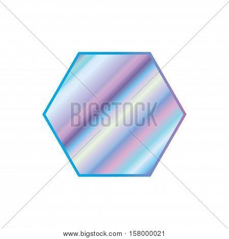 Holographic design illustration geometric shape sticker emblem