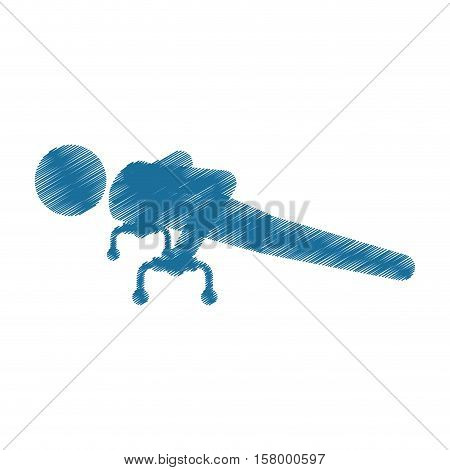 drawing colored silhouette sportman gymnastic pommel horse vector illustration eps 10