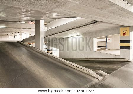 Empty parking lot area.