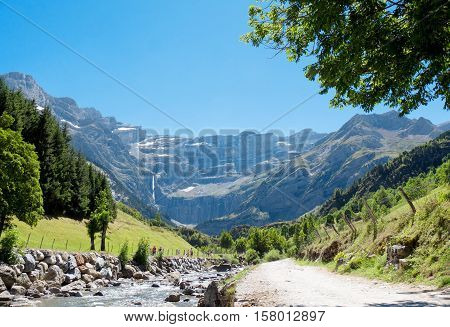 Road to Cirque of Gavarnie Hautes-Pyrenees France