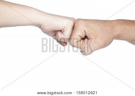 Greeting Gesture Is Made On A White Background