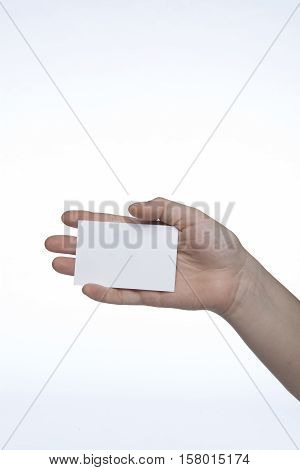 White Sheet On Hand, Copy Space, Space For Ad