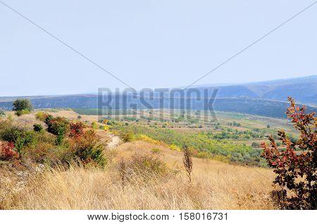 Landscape in Old Orhei region Moldova. View of old in Old Orhei - region Moldova
