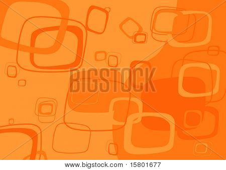 Orange rectangle background. Vector.