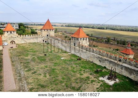 Fortress in Bender Transistria view from above. Transnistria is a self governing territory not recognised by the United Nations.
