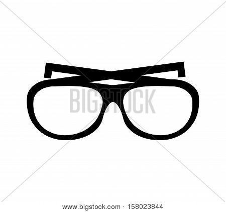 glasses vacations accesory icon vector illustration design