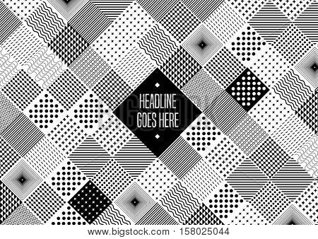 Vector of modern abstract geometric pattern and background