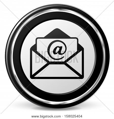 Illustration of mail icon on white background