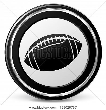 Illustration of american football icon on white background