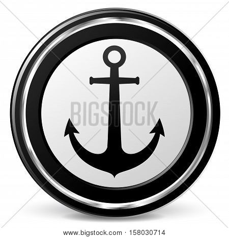 Illustration of anchor icon on white background