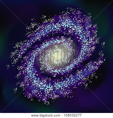 Galaxy. Really transparent vector galaxy effect. Spiral galaxy template. Stock vector background.