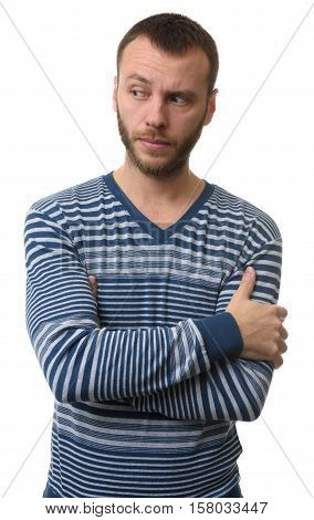 Serious Man With Arms Folded Standing