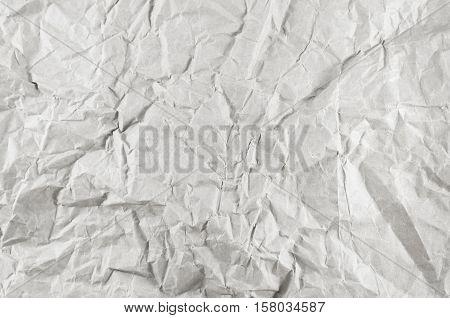 Old wrinkled white paper for white background