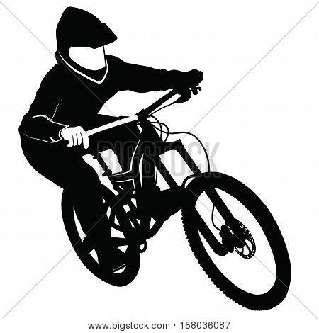 Bike Race On Mountain Vector Photo Free Trial Bigstock