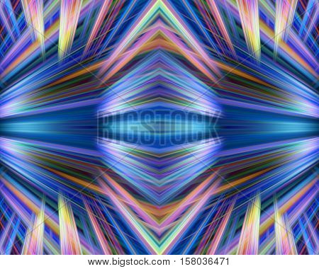 Colorful blue and yellow light trails background
