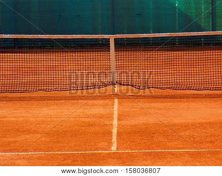 Tennis court in sport areal during day
