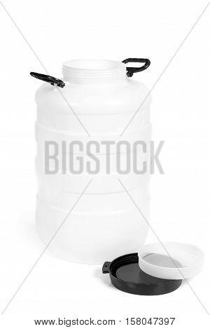 White Plastic Barrel
