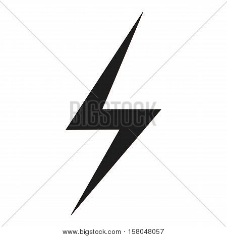 lightning bolt icon on white background. lightning bolt symbol.
