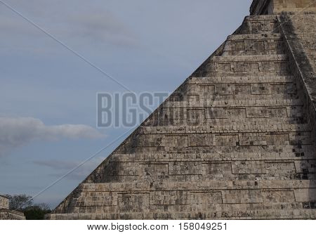 Cropped image of pyramid at Chichek Itza