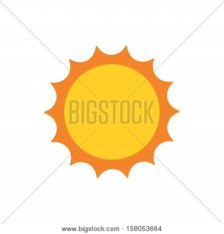 Vector Sun icon isolated on white background