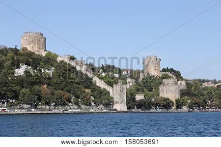 Rumelian Castle In Istanbul City