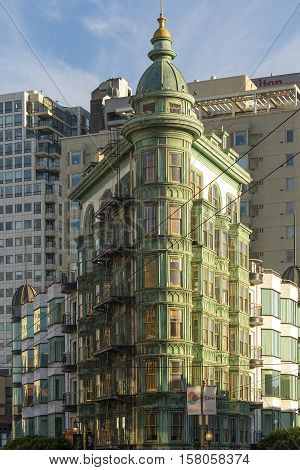 San Francisco Ca USA October 22 2016: The Coppola building in the financial quarter of San Francisco