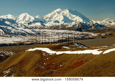 Mt.Denali in the fall season, Alaska, USA