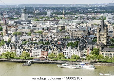 Cityscape Cologne With Rhine