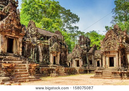 View Of Ancient Thommanon Temple In Angkor, Siem Reap, Cambodia