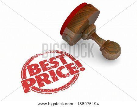 Best Price Lowest Sale Deal Offer 3d Illustration