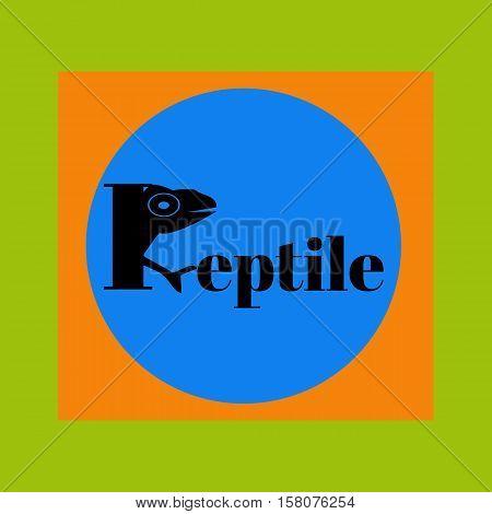 Reptile logo. Identity design template. Vector illustration for your company.