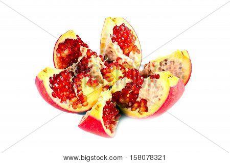 beautiful ripe tropical fruit pomegranate has beneficial vitamins