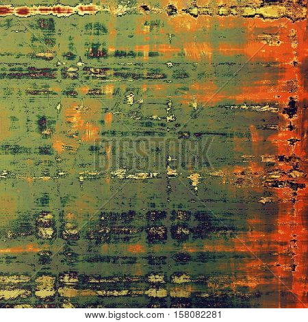 Retro grunge vintage background or weathered antique texture with different color patterns: yellow (beige); brown; gray; green; red (orange)