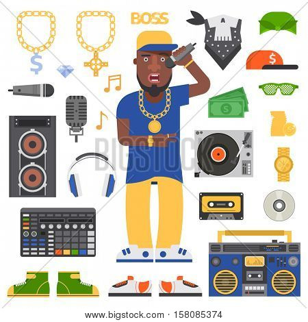 Hip hop man vector.