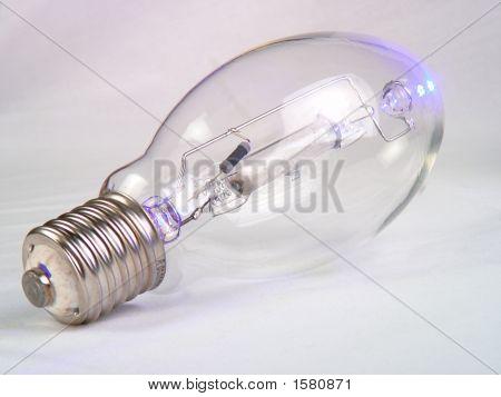 Mercury Vapor Bulb On White