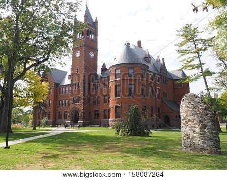 Gettysburg PA USA - October 16 2016: Glatfelter Hall on the campus of Gettysburg College