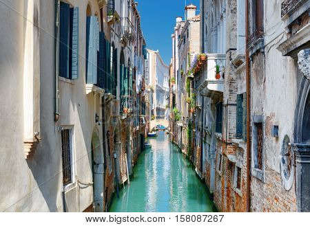 Beautiful View Of The Ponte Del Ravano In Venice, Italy