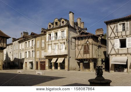 Square in Saint Cere Lot Valley France