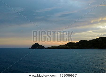 Deer Island near Playa las Gaviotas in Mazatlan, Mexico.
