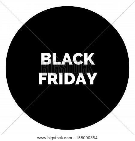 Black friday rounded delicious Shopping sign for internet ladies shop. Black and white edition
