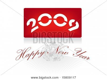 Greeting 2009. Also available as vector. poster