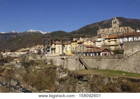 Village of Prats de Mollo -La Preste Vallespir Languedoc Roussillon Pyrenees Orintales France