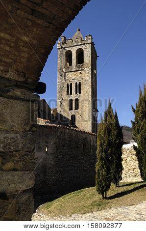 Justa and Rufina church Prats de Mollo La Preste Vallespir Languedoc-Roussillon Pyrenees Orientales France