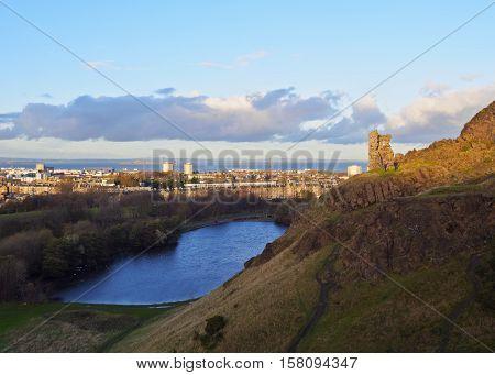 Holyrood Park In Edinburgh