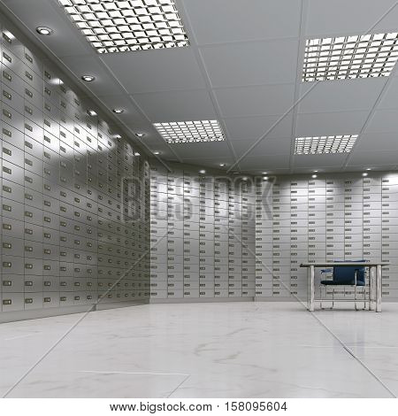 3D Rendering Safe Deposit Boxes