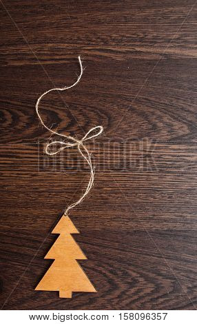 Greeting Card. Handmade Decoration Christmas Tree