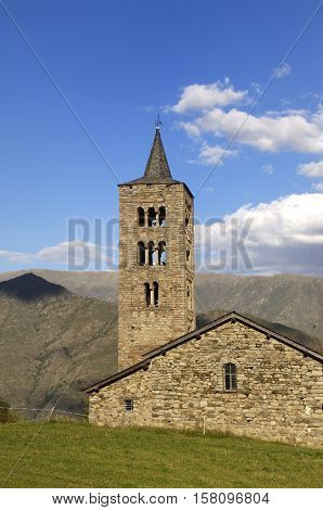 Sant Just and Sant Pastor Church XI-XII century Romanesque Son de Pi Pallars Sobira Lleida Catalonia Spain